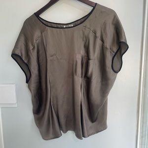 QuikSilver Silk Brown Shirt Sz L